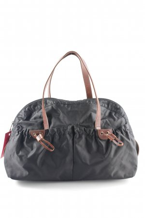 Blue Strenesse Bowling Bag black-cognac-coloured casual look