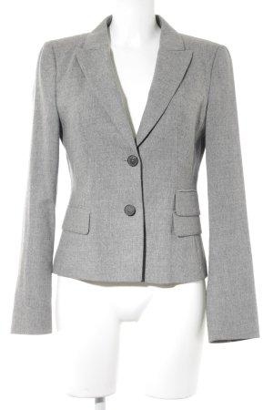 Blue Strenesse Korte blazer grijs gestippeld elegant