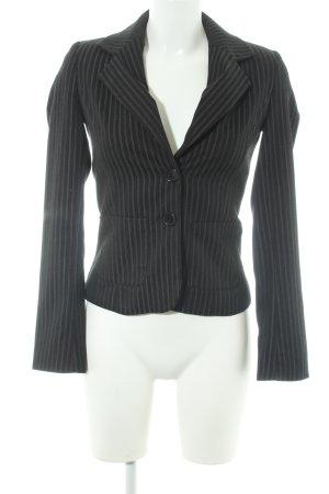 Blue Strenesse Short Blazer black-grey striped pattern business style