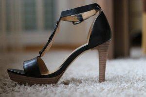 Blue Strenesse High Heel Sandal black leather