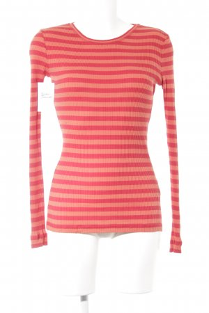 Blue Strenesse Sweatshirt rood-donker oranje gestreept patroon