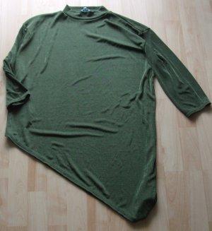 Top à col roulé vert foncé polyester