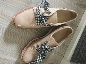 Blücher Schuhe zara gr.38 Lack beige aktuell