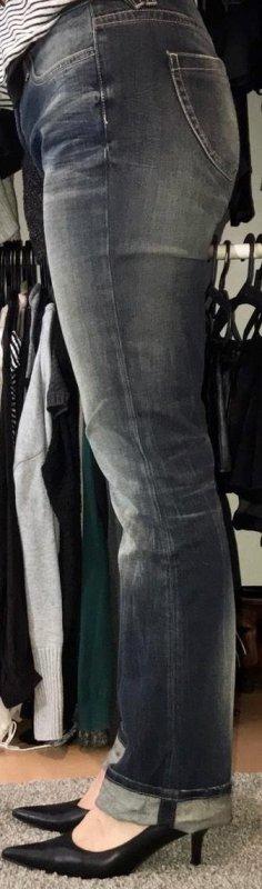 bluefire Jeans coupe-droite gris ardoise-bleu