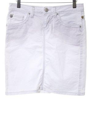 bluefire Denim Skirt white casual look