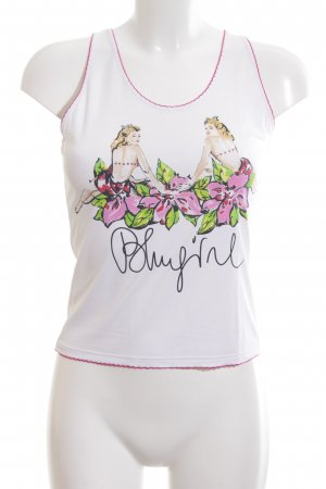 Bluegirl Cropped Top themed print casual look