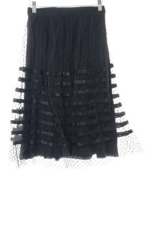 Bluegirl Falda de tul negro estampado a lunares elegante