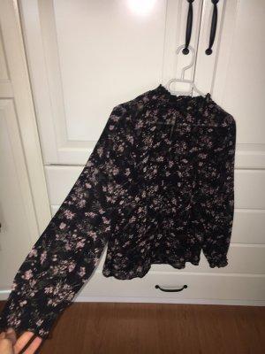 Colletto camicia nero-rosa antico