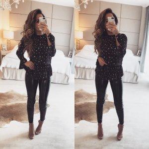 Zara Camicetta a maniche lunghe nero-rosso