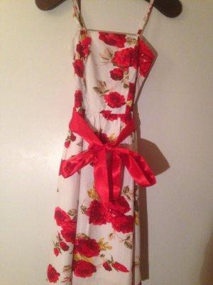 b.p.c. Bonprix Collection Robe blanc-rouge