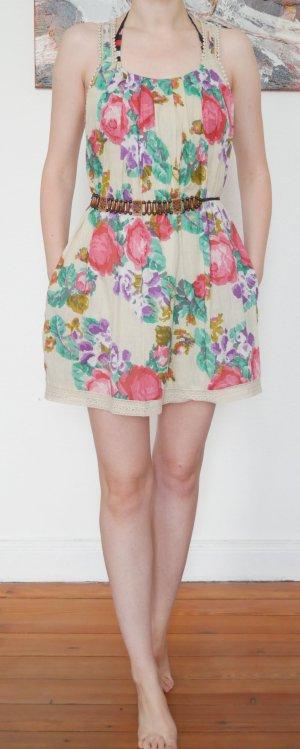 A-lijn jurk veelkleurig Katoen