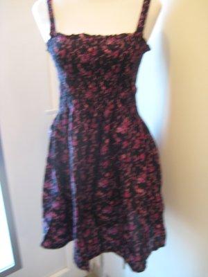 Blümchen Kleid schwarz pink Gr.S