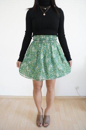 Zara Flared Skirt green-white