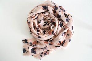 Blümchen Schal Tuch mit Fransen