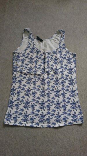 Takko Basic Top blue-white cotton
