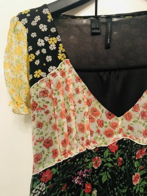 Mango A-lijn jurk veelkleurig Gemengd weefsel