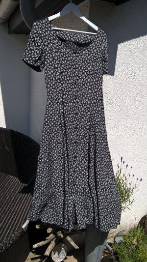 Blümchenkleid schwarz weiß  Gr. S M