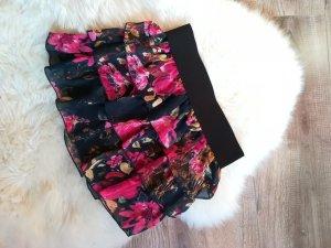 Amisu Gelaagde rok zwart-framboosrood