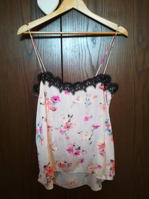 Zara Spaghetti Strap Top multicolored