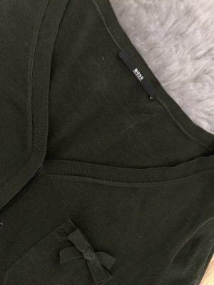 Hugo Boss Geruite blouse donkergroen