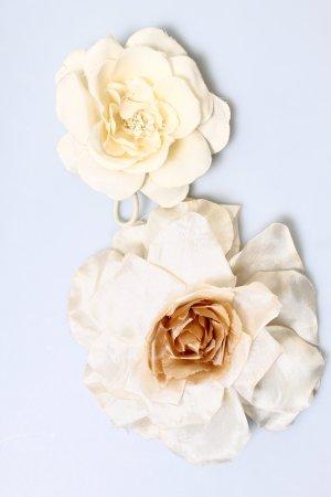 Blüten Blume Broschen Haarschmuck Hochzeit Fest Brautschmuck weiß nude creme beige vintage boho