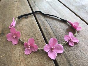 Blüten Haarband Stirnband Hippie Ibiza Style Native Indian Summer Beach Party Look Blüten Haarband für Festival, Sommer und Strand neu Blumenkranz Haarkranz Blume Blüte Dirndl Trachten Hippie