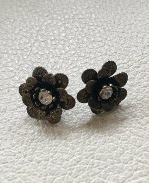 Blütenohrringe Bronze