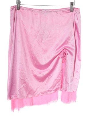 Blugirl Blumarine Mini rok roze extravagante stijl