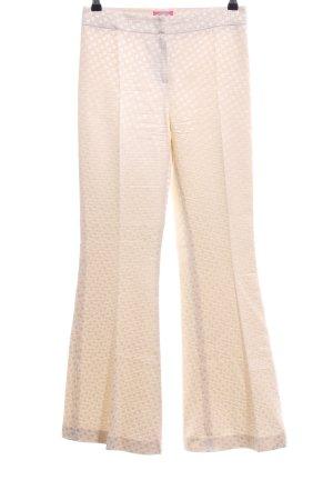 Blugirl Blumarine Pantalón de campana crema elegante