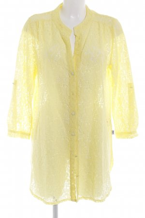 Blugirl Blumarine Lace Blouse yellow floral pattern beach look