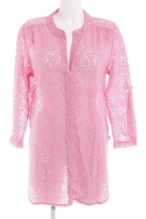 Blugirl Blumarine Blusa in merletto rosa motivo floreale stile spiaggia