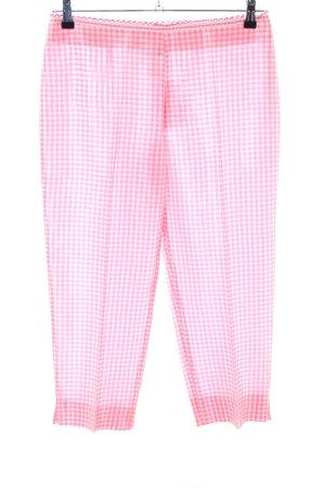 Blugirl Blumarine Jersey Pants pink-white check pattern casual look