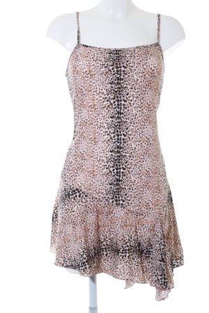 Blugirl Blumarine Vestido tipo overol estampado de leopardo estilo extravagante