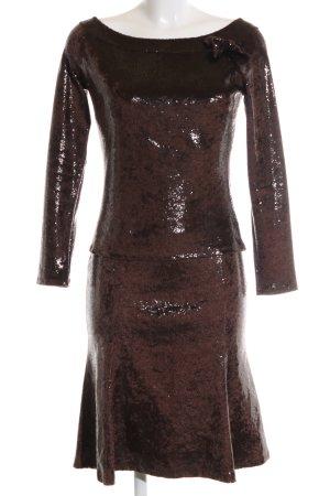 Blugirl Blumarine Woven Twin Set bronze-colored wet-look