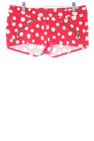 Blugirl Folies Hot Pants rot-weiß Punktemuster Casual-Look