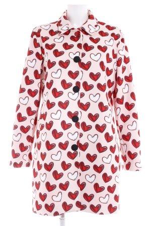 Blugirl Folies Between-Seasons-Coat dusky pink-red Herzmuster extravagant style