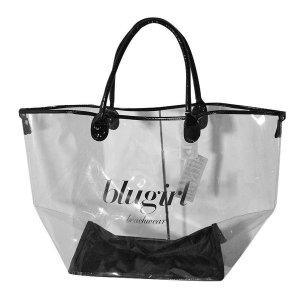Blugirl XXL Strandtasche, Transparent und Schwarz