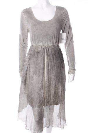 Bluhmod Jerseykleid hellgrau-silberfarben extravaganter Stil