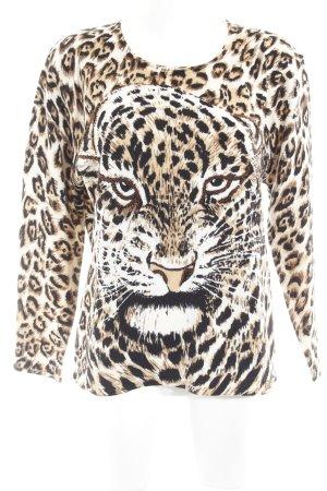 Bluhmod Jersey de cuello redondo estampado de animales estampado animal