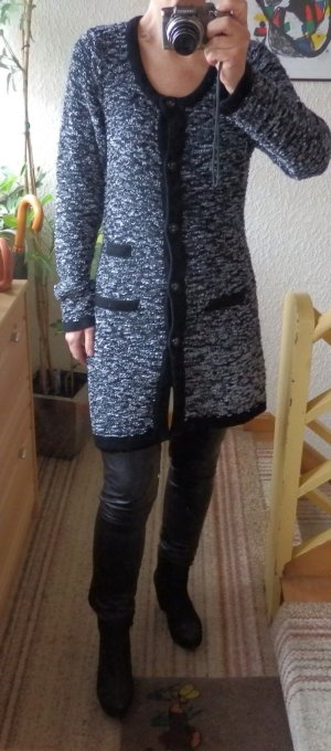 BLUHMOD Strick Kurzmantel Tweed-Optik Long Cardigan S NP. 69,90 Neu mit Etikett