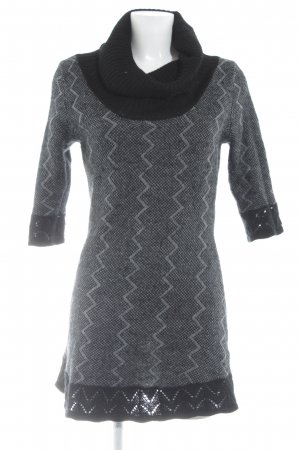 Bluhmod Knitted Dress black-grey zigzag pattern casual look