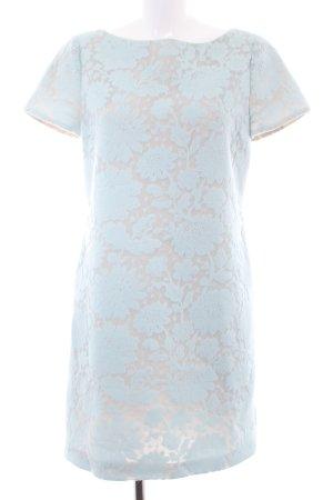 Blumarine A-Linien Kleid babyblau-hellblau Blumenmuster Elegant
