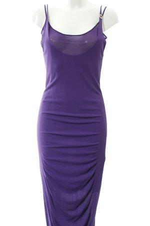 Blumarine Vestido de noche violeta oscuro estilo extravagante