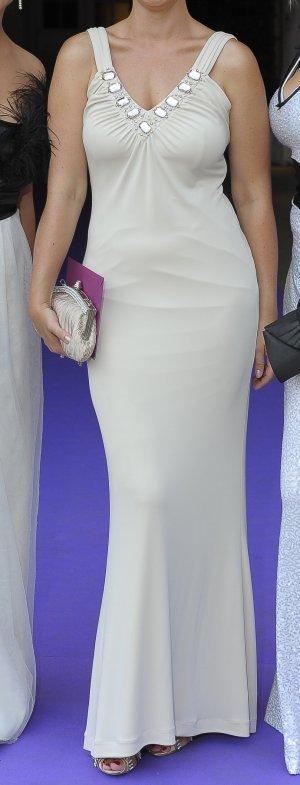 Blugirl Blumarine Evening Dress cream synthetic fibre