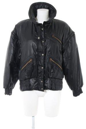 Blumarine Bomber Jacket black themed print casual look