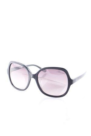 Blumarine eckige Sonnenbrille schwarz Street-Fashion-Look