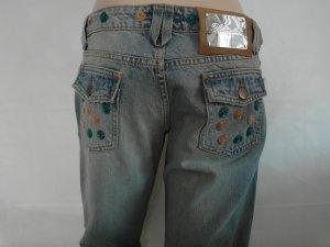 BLUMARINE extravagante Jeans Gr. 36 mit Pailetten
