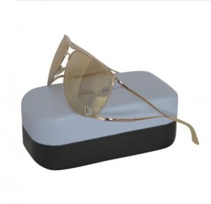Blumarine Gem Stone Embellished Gold Color Sunglasses