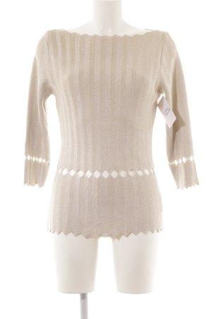 Blumarine Crochet Sweater gold-colored weave pattern elegant