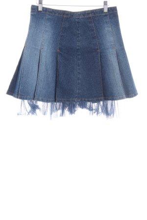 Blumarine Jeansrock dunkelblau-kornblumenblau Washed-Optik